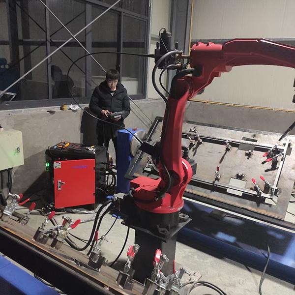 8 axis robot working station debugging
